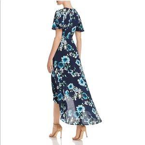 COTTON CANDY LA Navy Floral Wrap Dress